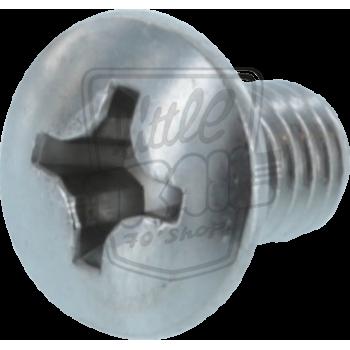 Vis à tête ovale  et fraisée 6x10mm pour fixer la grille de protection sur le pot d'échappement du Honda Dax ST70 6v ou 12v
