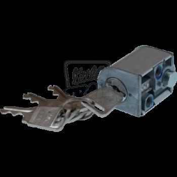 Serrure bloque-guidon qui permet de vérouller la direction sur le cadre. Convient aux Honda Dax de 1969 à 1981 inclus