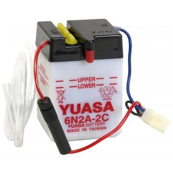 Batterie 6v de marque Yuasa pour Honda Dax ST50 et ST70 produits de 1977 à 1989