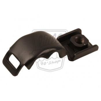 Patte de fixation noire origine Honda, pour fixer la grille chromée du pot d'échappement pour Dax ST50 et ST70 6v et 12v