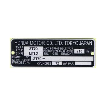 Plaque des mines adaptable pour Honda Dax ST70 6v produits de 1969 à 1989 inclus