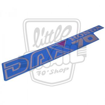 Autocollant de cadre bleu origine Honda Dax ST70 12v, commercialisés de 1990 à 1998 inclus