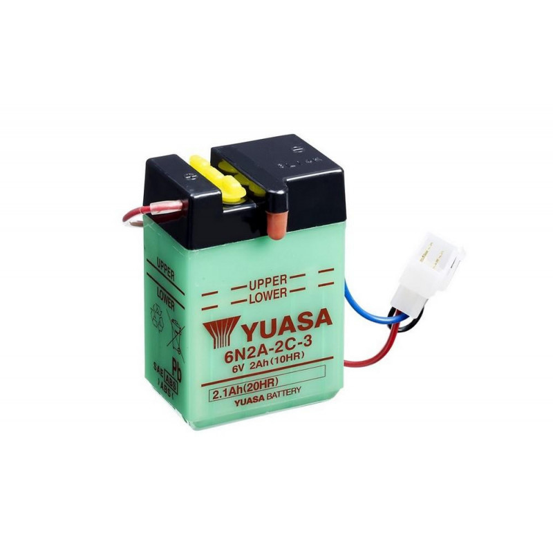 Batterie 6v de marque Yuasa Honda Dax ST50 ST70 1969 1976