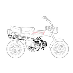 Moteur - Boite Honda Dax 6v 1982-1989