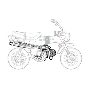 Moteur - Boite Honda Dax 6v 1969-1981